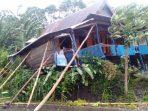 2 Rumah warga nyaris roboh di Dusun Bangkala Desa Borimasunggu Kecamatan Biringbulu Kabupaten Gowa