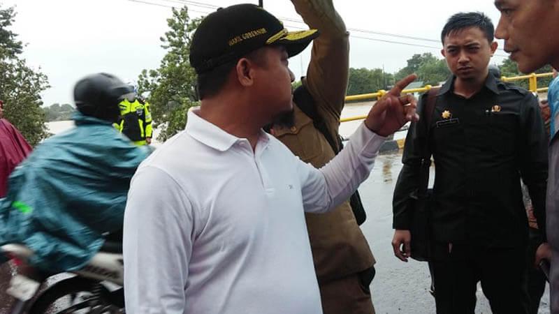 Wakil Gubernur, Andi Sudirman Sulaiman tinjau Jembatan kembar Kabupaten Gowa