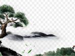 Pinus crane lukisan