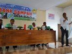 Sosialisasi pembentukan bank sampah Desa Bialo, Bulukumba