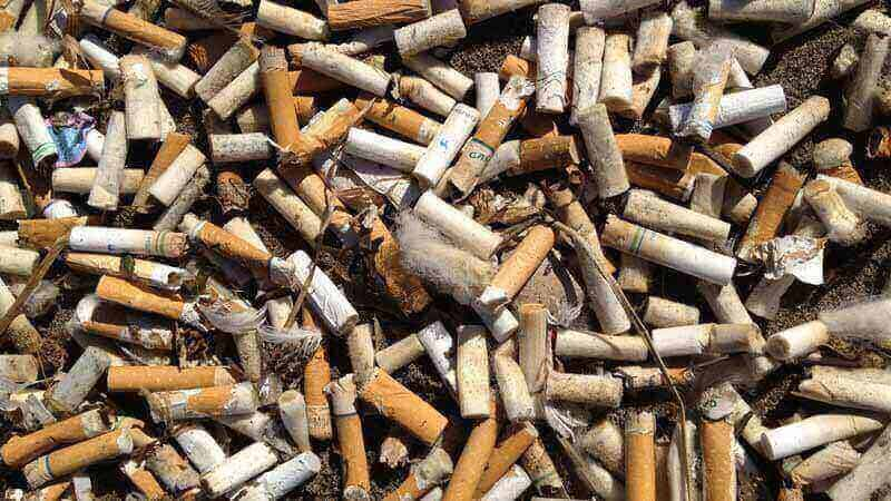 Ilustrasi puntung rokok