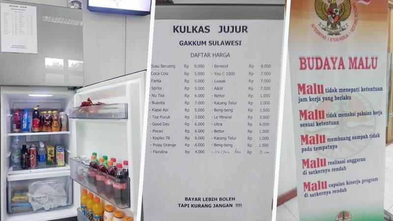 Wow! Ada Kulkas Kejujuran di Balai Gakkum LHK Wilayah Sulawesi