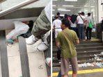 Sampah Berserakan di MRT Jakarta, Apa Dosa Program 'Tahan, Simpan, Pungut'?