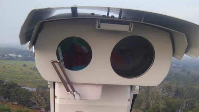 Dari Menara Pemantau Kamera CCTV Thermal Memantau Lokasi Rawan Karhutla