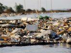 Mencemaskan, Ada Pulau Sampah diDaratan Muara Sungai Cisadane
