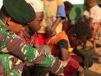 Satgas Yonif MR 411 Kostrad Ajarkan Anak-anak Perbatasan Cara Menanam Hidroponik