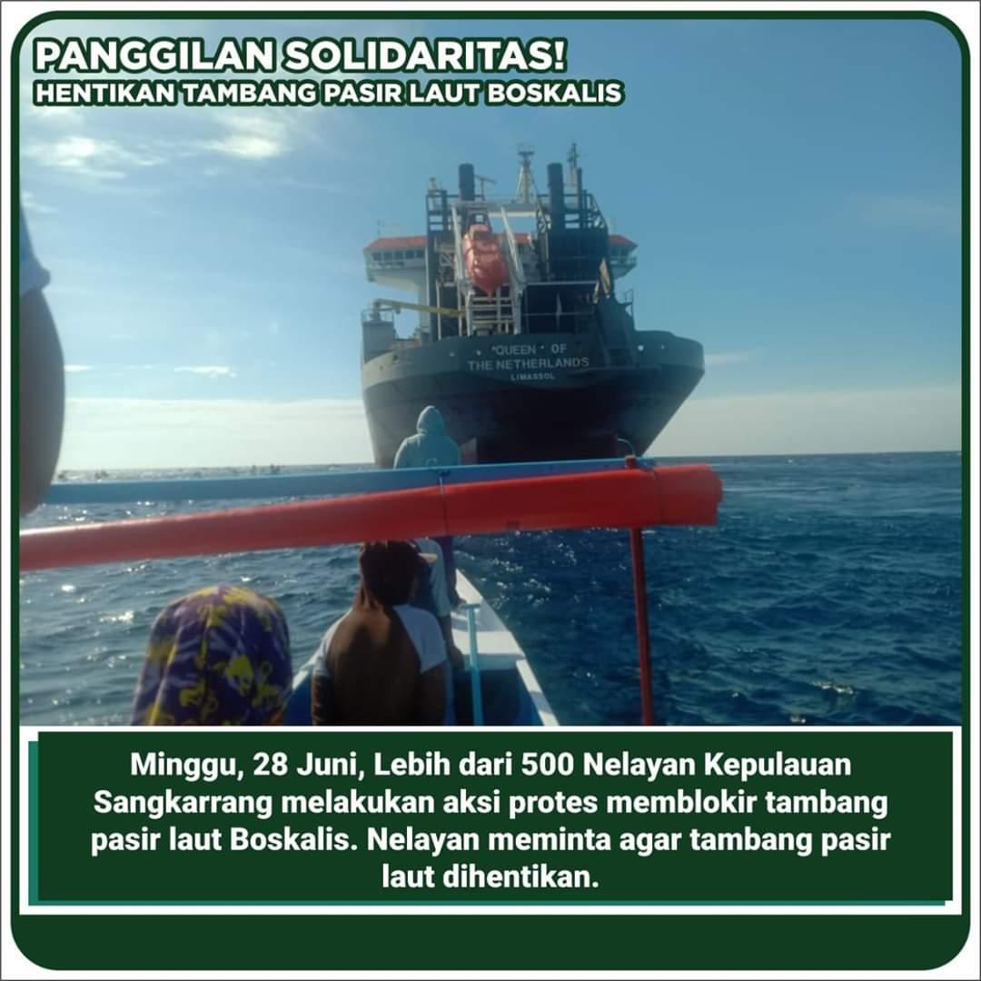 Aksi Heroik Nelayan Sangkarrang Mengejar Kapal Boskalis di Selat Makassar