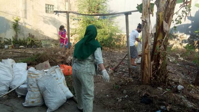 Gotong Royong Bersih Lingkungan, Cara Warga Batua Raya 3 Lorong 4 Makassar Sambut WCD 2020