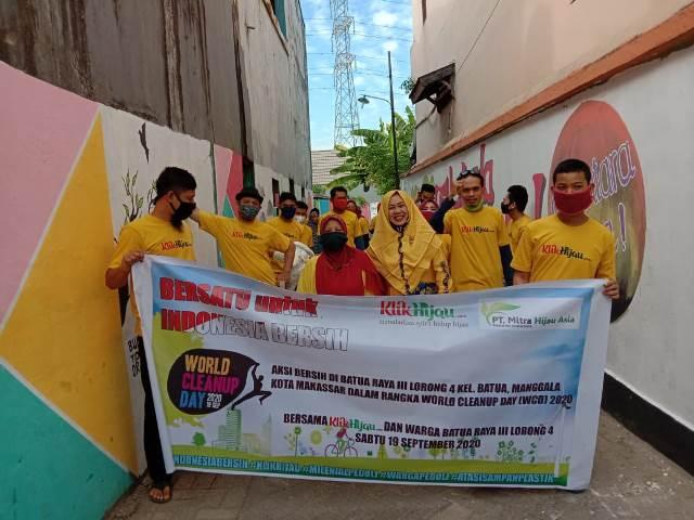Klikhijau danWarga Batua Raya III Lorong 4 Gotong Royong di Momen WCD 2020